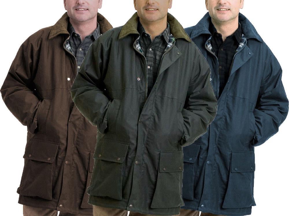Waxed Jackets mens padded wax jacket british waxed coat 100% waxed cotton warm country  s-5xl | PRXLJRO