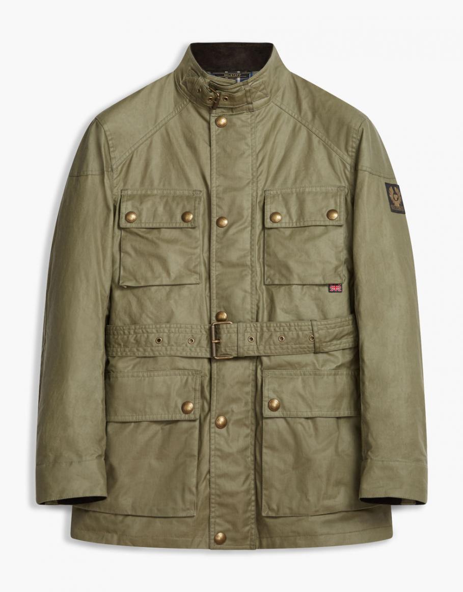 Waxed Jackets ... mens waxed jackets - belstaff the roadmaster jacket forest ... JOSDOHM