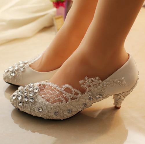 wedding shoes low heel 5cm low heels wedding shoes,lace bridal shoe,bridal heel,wedding pumps OBKTHWW