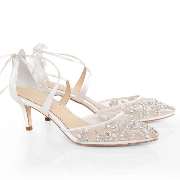 wedding shoes low heel frances luxury jewel kitten heel wedding shoe | bella belle shoes XEQXZMD
