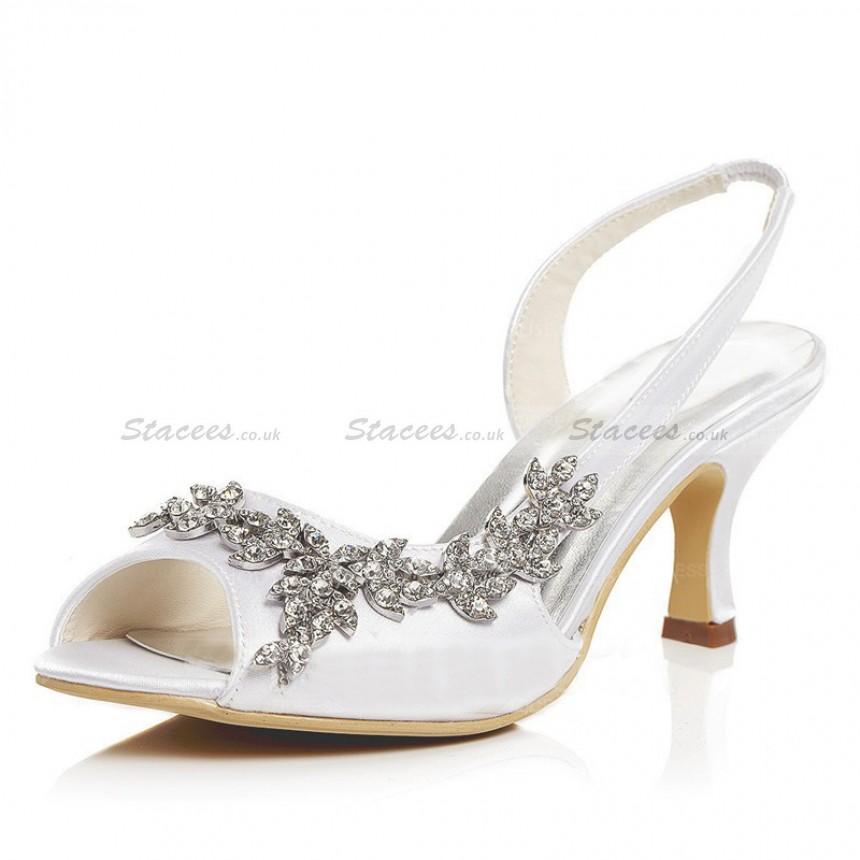 wedding shoes low heel sandals pumps low heel white pu with rhinestone wedding shoes HCJGNBX