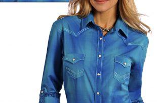 Western Wear womenu0027s longsleeve shirts PTUFURF