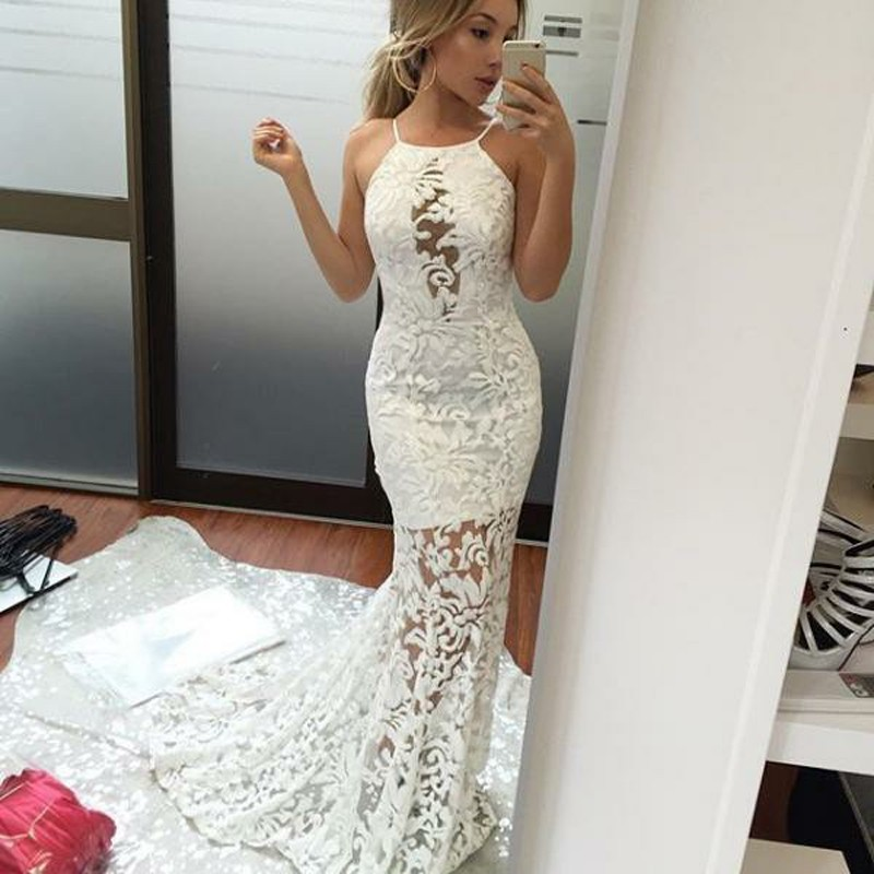Jazz up Your Style by Wearing White Lace Prom Dress