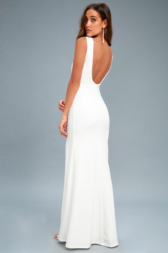 white maxi dress cherish you white backless maxi dress LHXCTKR
