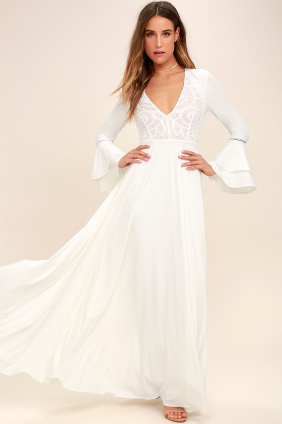 white maxi dress enchanted evening white lace maxi dress DLEYDIC