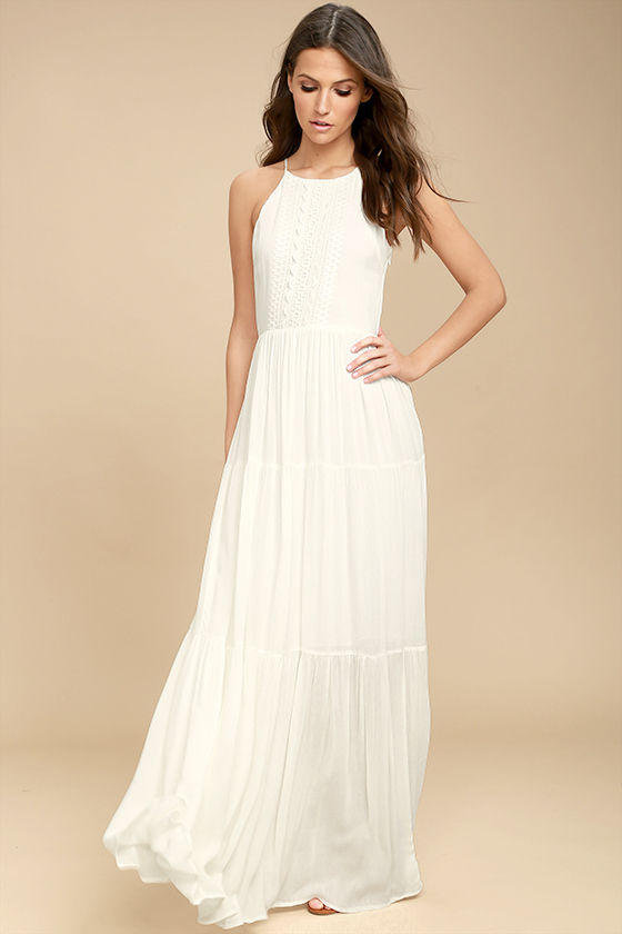 white maxi dress for life white embroidered maxi dress TOQUNVE