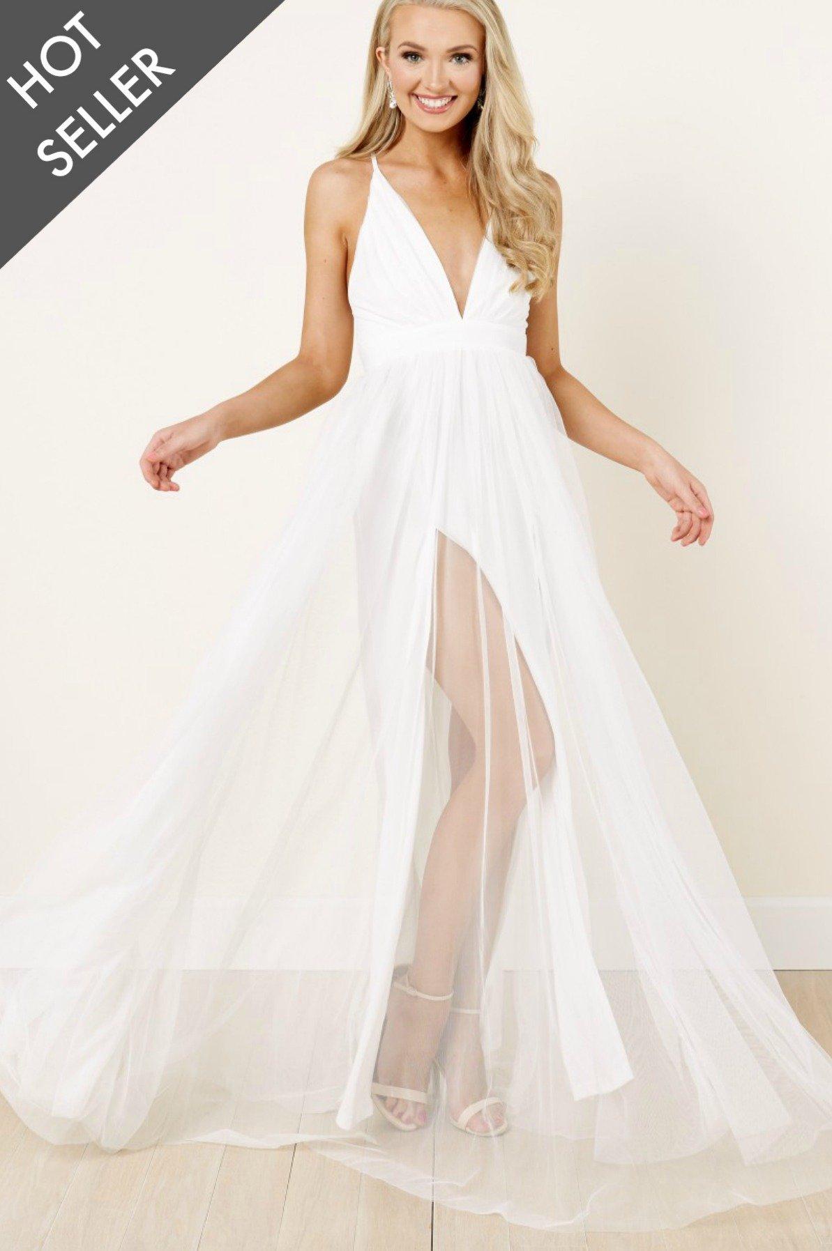 white maxi dress next VEHCTJO