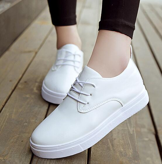 white shoes for women 2016 new women shoes lace up black white casual shoes for women flat shoes JUDCXOT