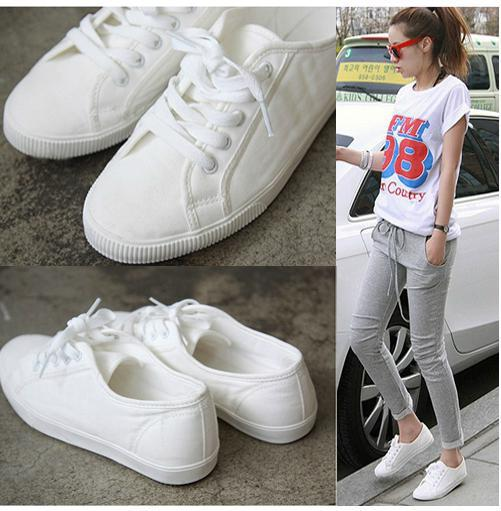 white shoes for women fashion new sport shoes hot selling lacing white canvas casual cotton made  canvas shoes UFVOLVQ
