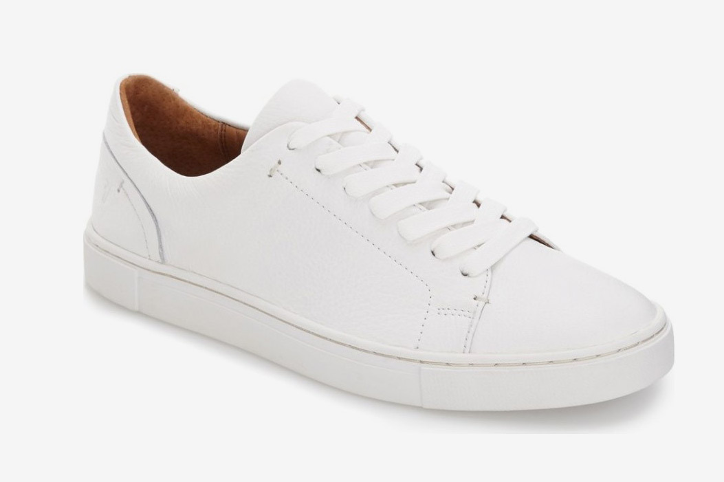 white shoes for women frye ivy sneakers MXLLJSE
