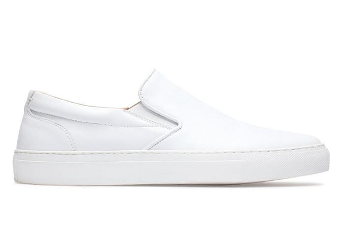 white shoes for women greats - the wooster - blush perforated leather - womenu0027s shoe | greats VCMQXQZ