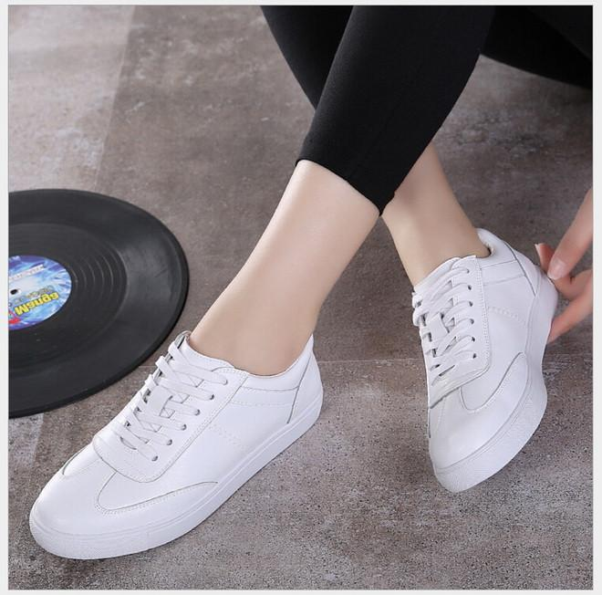 white shoes for women women shoes genuine leather lace-up flats white shoe soft bottom loafers  casual shoes LAKNVME