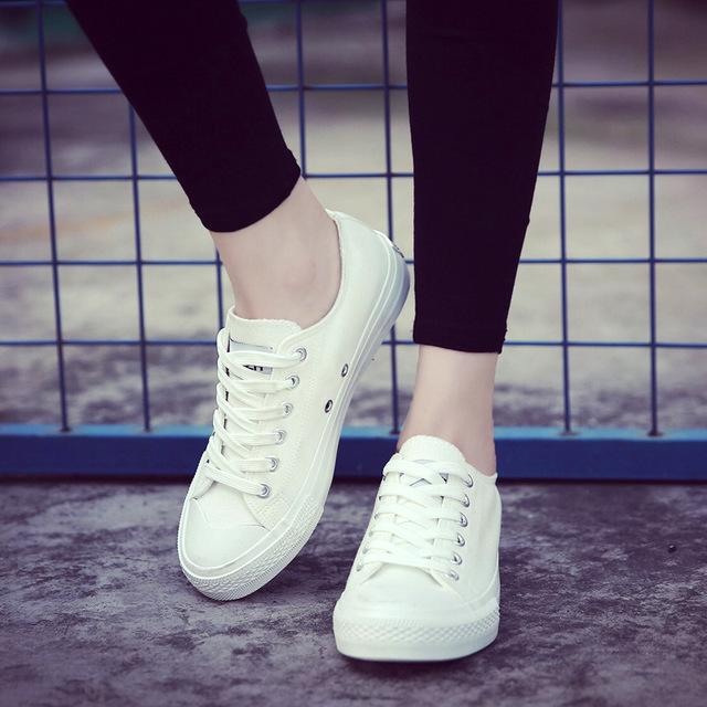 white shoes for women women shoes white canvas shoes female spring and summer white casual shoes  woman students TINVYXN