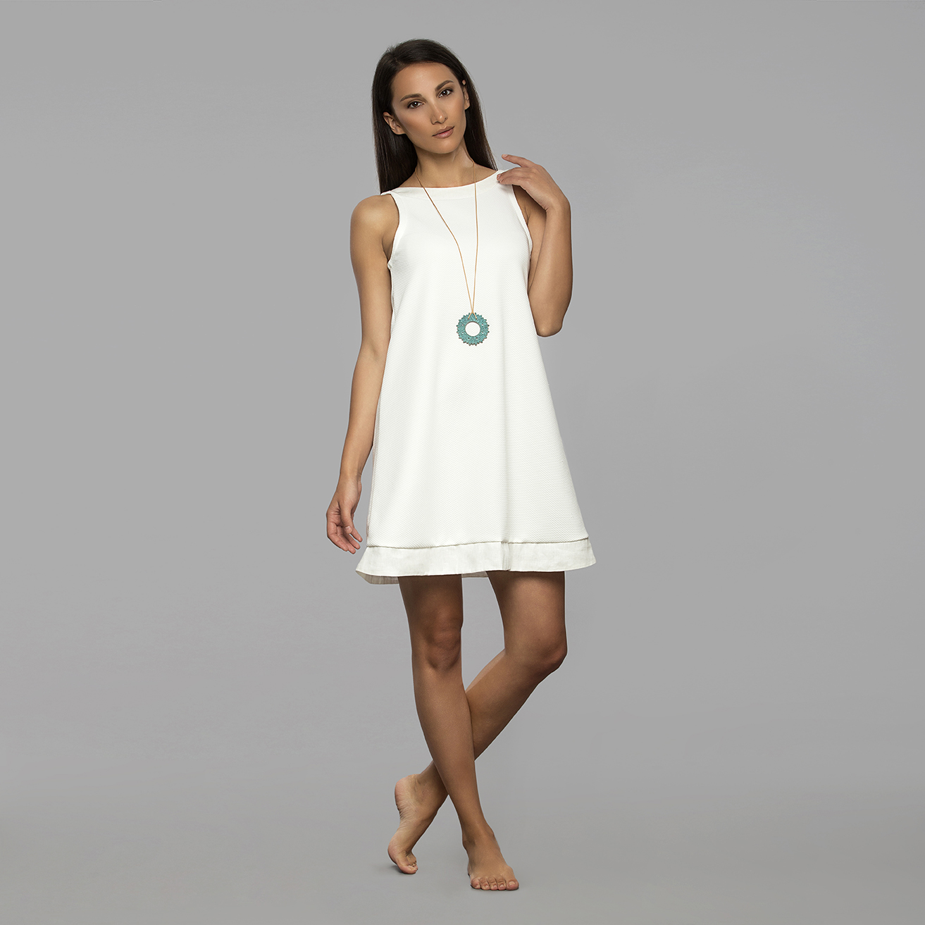 white summer dress the white, santorini HDPVZTR