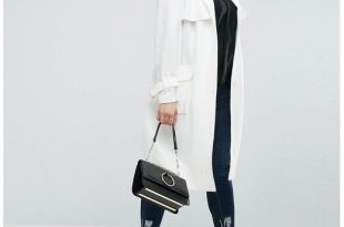 White Trench Coat 1asos curve trench in structured crepe with oversized pockets, ... UKPBFAK