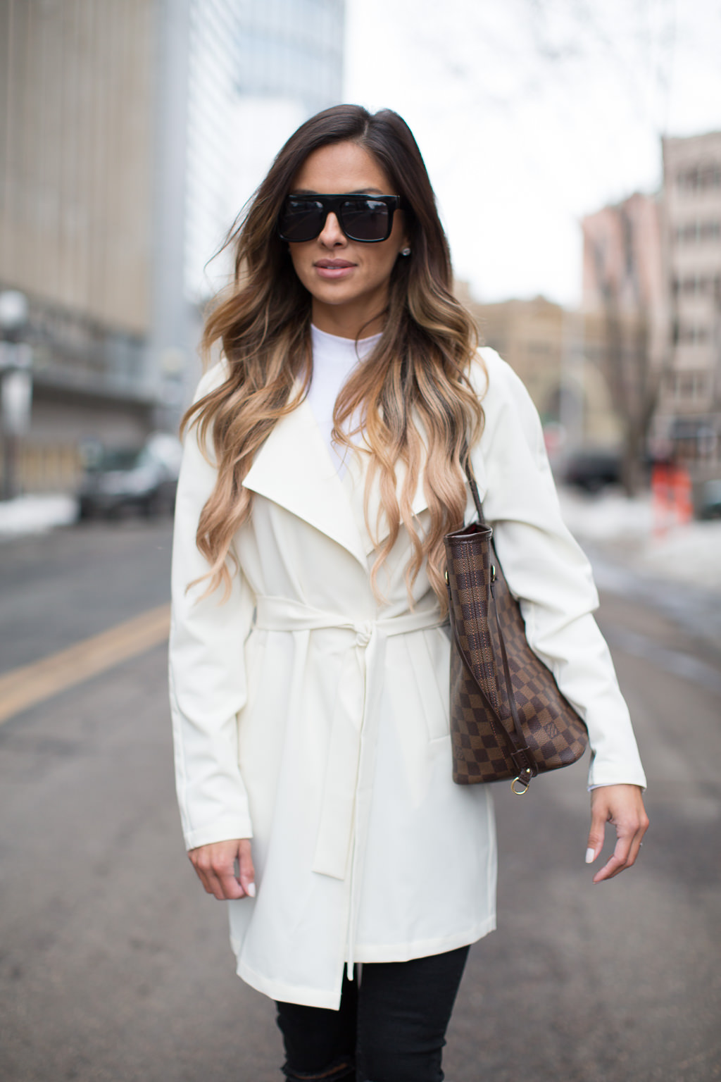 White Trench Coat asos trench coat what to wear this spring ... VELKSQD