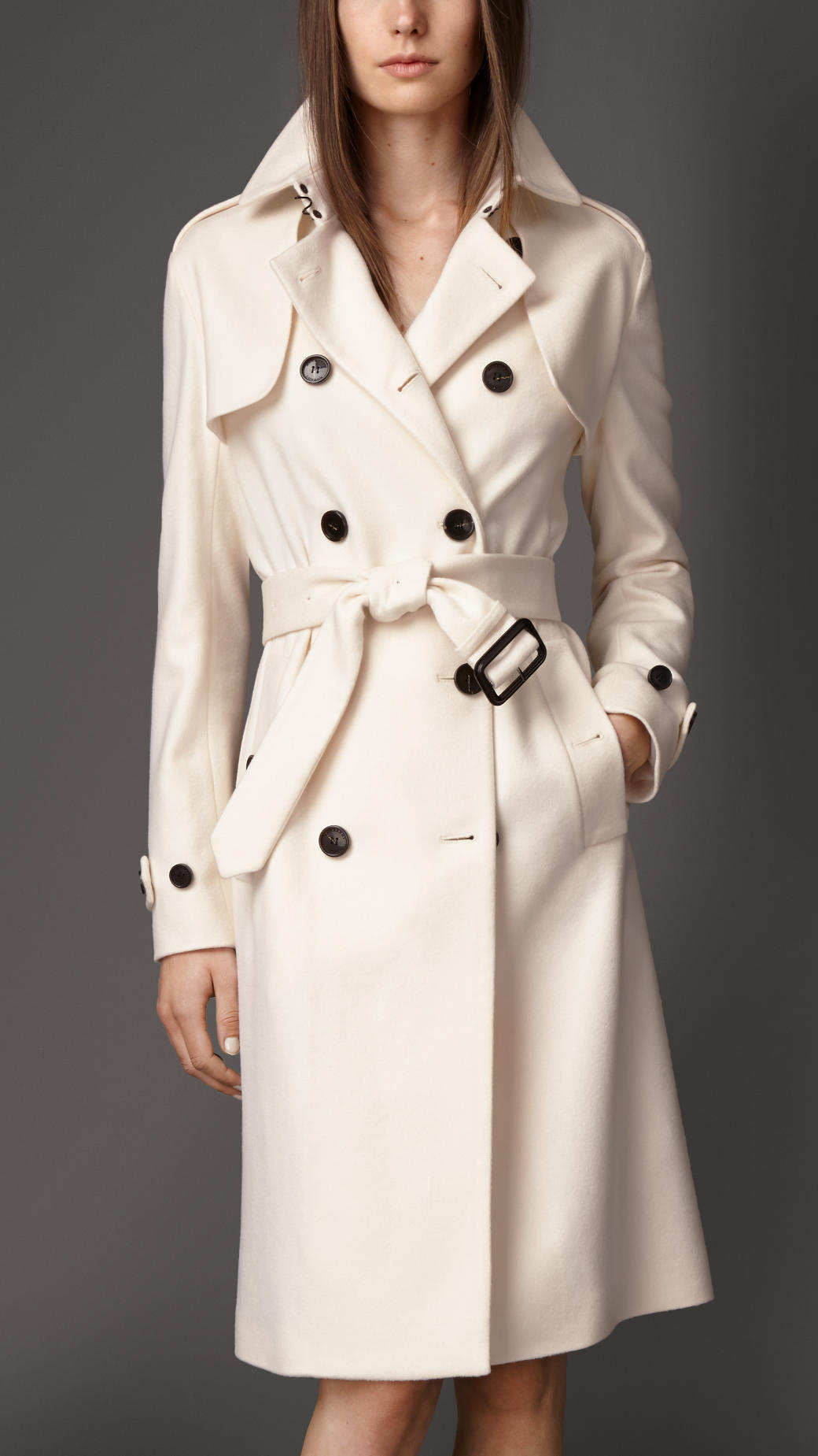 White Trench Coat gallery MGWDNDT
