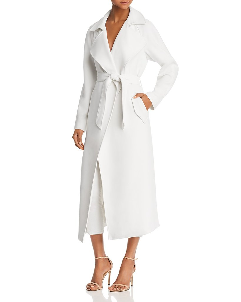 White Trench Coat kendall + kylie long trench coat KSPTXZS