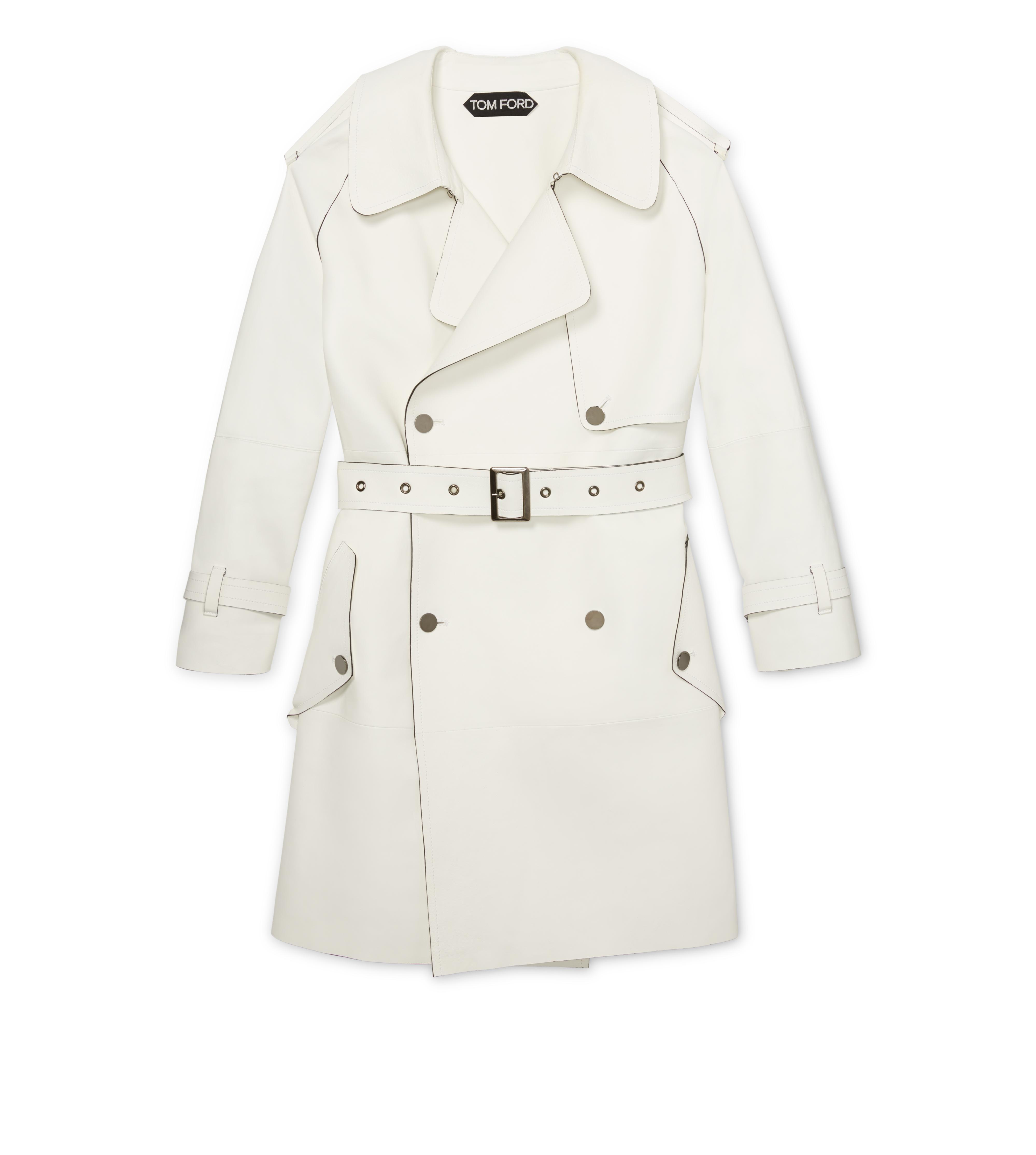 White Trench Coat leather trench coat NNQZRFL