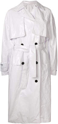 White Trench Coat ... msgm belted trench coat JRFMZHU