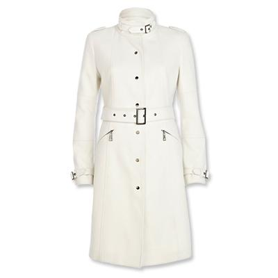 White Trench Coat river island white trench WCQARLZ