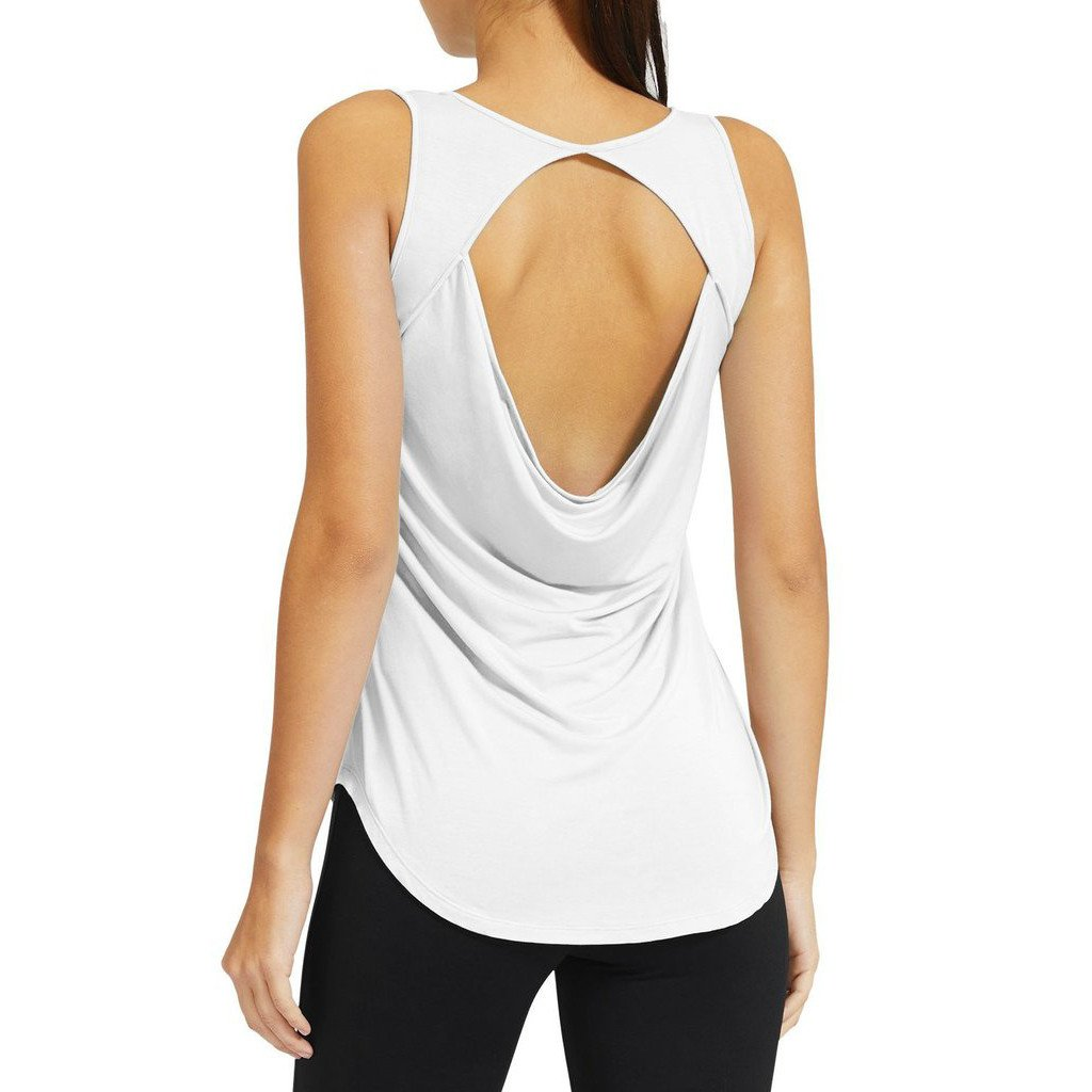 womenu0027s soft lightweight cowl back workout yoga sleeveless shirts XWGVARE