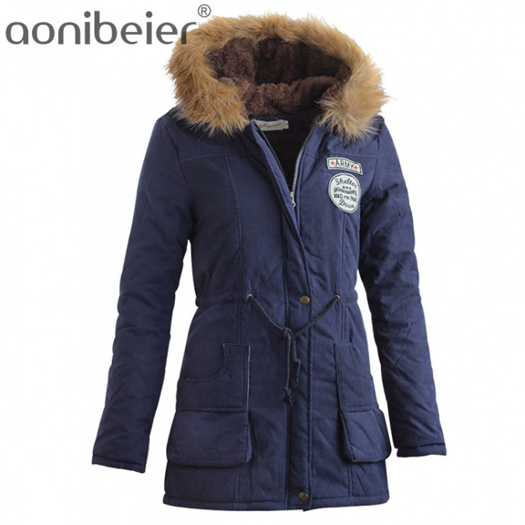Women Winter Jackets aonibeier parkas women coats fashion autumn warm winter jackets women fur  collar long parka DEYKTBQ