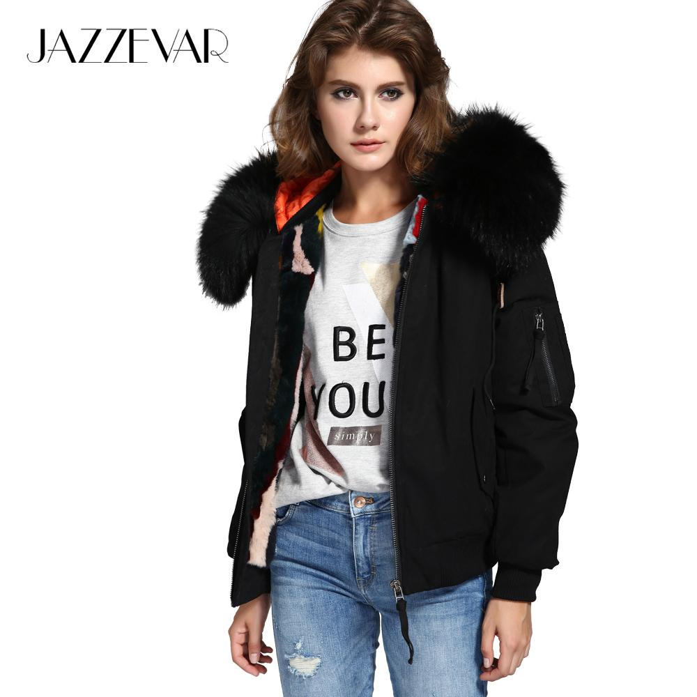 Women Winter Jackets jazzevar new high fashion street woman winter jacket female worm bomber coat  hooded large HHWLUED