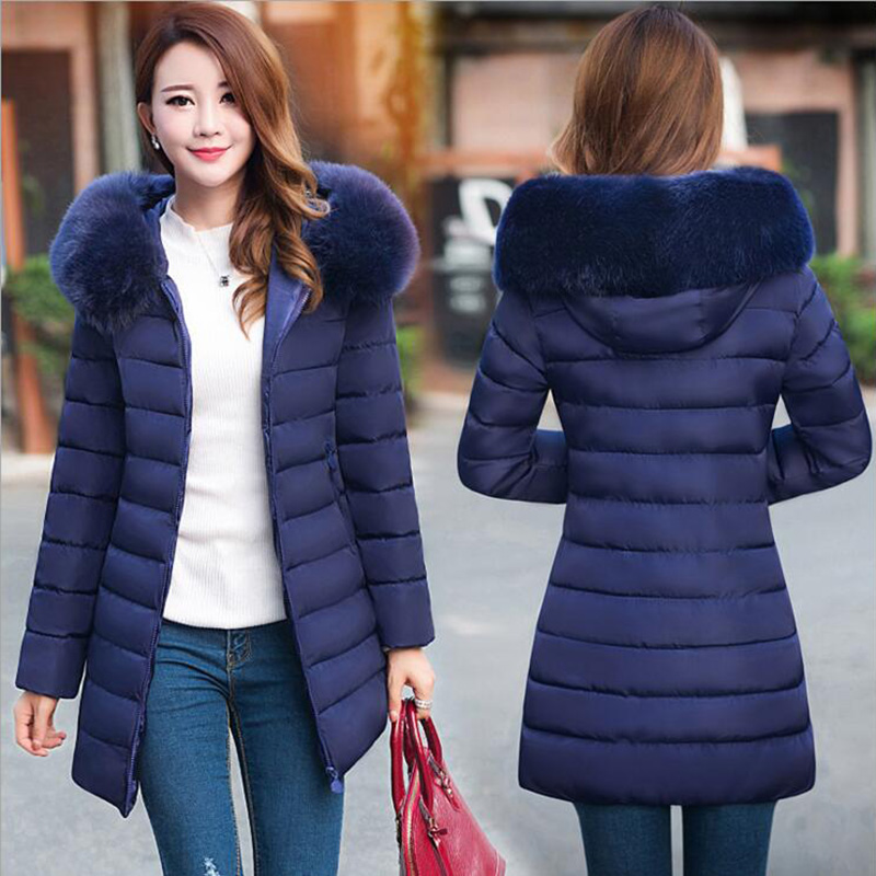 Women Winter Jackets tigena plus size 4xl winter jacket womenu0027s 2018 fur collar thick warm  cotton parka VQDSMIQ