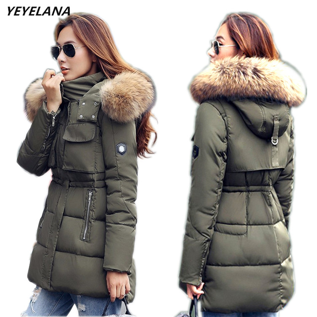 Women Winter Jackets yeyelana women winter jacket large real fur 2018 new winter women parka  casual outwear LYFGJSE