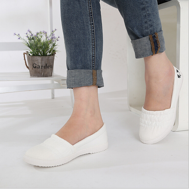 Womens Casual Shoes new 2016 women white casual cotton made canvas shoes woman walking shoes  womenu0027s casual IQXRGTC