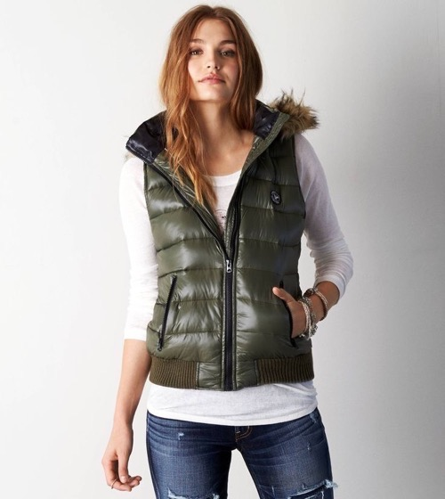 Womens Down Vest ... down vest to complete your look with a pair of jeans and boots or HMGQRTB