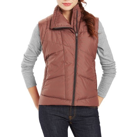 Womens Down Vest product image for solar plaid VJVFYQL
