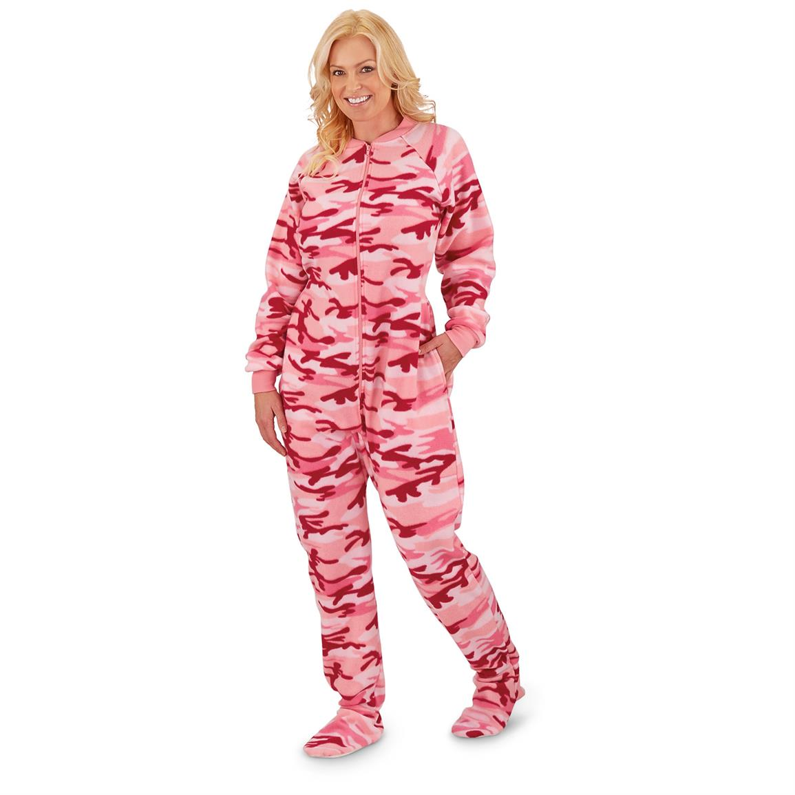 womens footed pajamas guide gear® favorite! new style and new patterns!, camo. guide gear womenu0027s  footed onesie NKPDMHJ