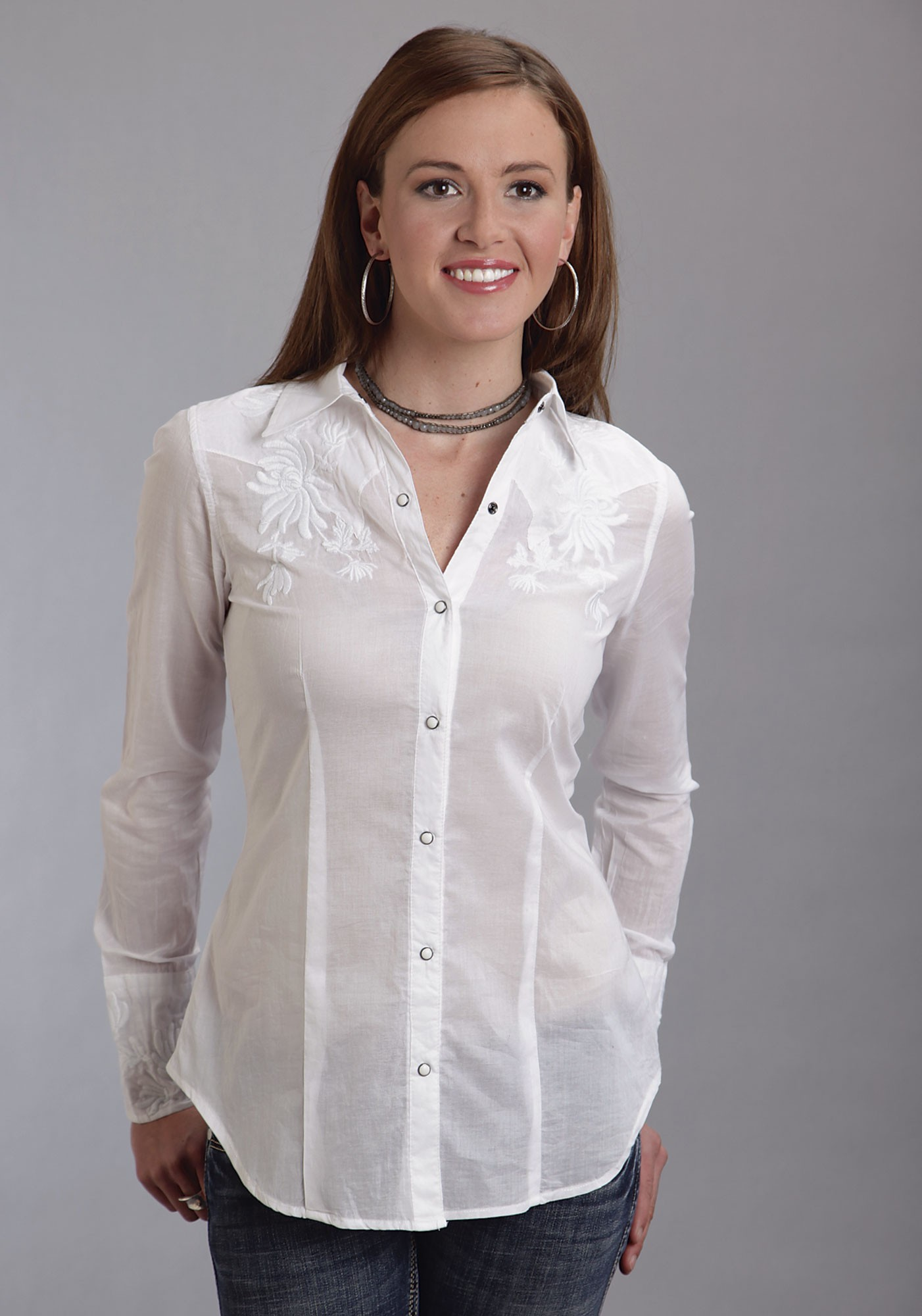 Womens White Shirts stetson® womenu0027s white cotton embroidered long sleeve western shirt LPKWMGG